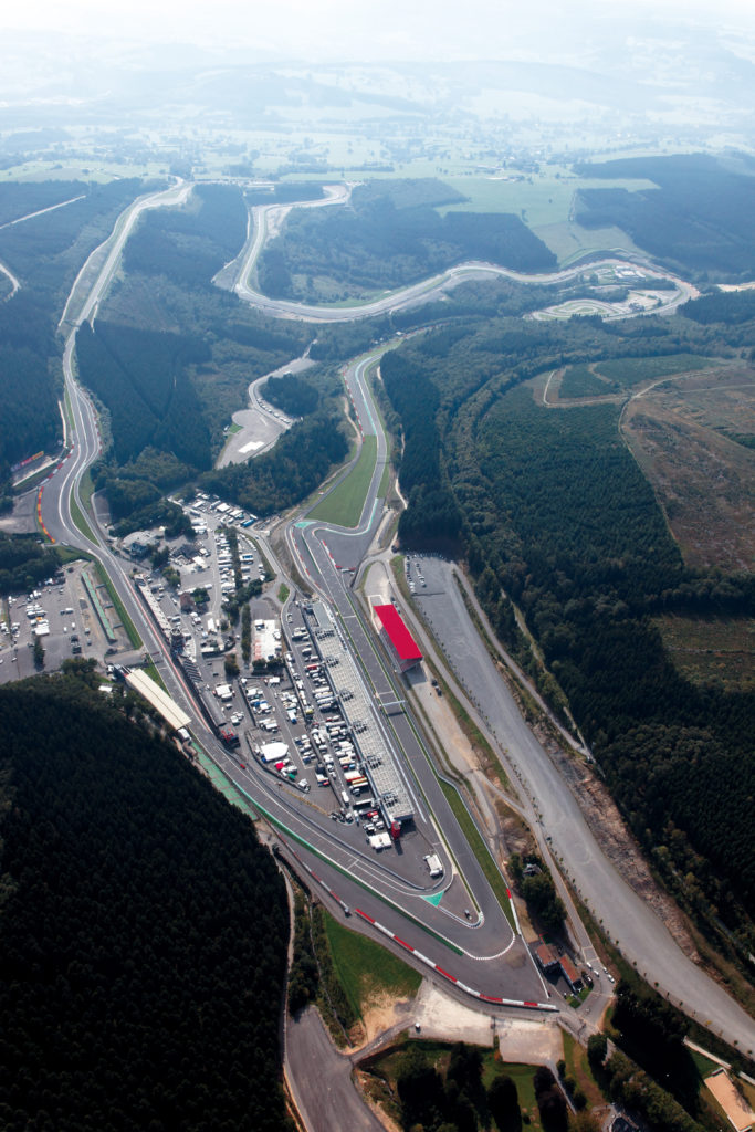 Aerial VIew Circuit Spa-Francorchamps
